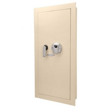 The BARSKA AX12408 LARGE BIOMETRIC IN-WALL GUN SAFE