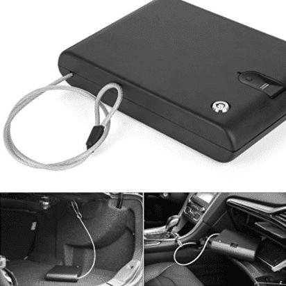 Ivation Portable Biometric Car Gun Safe