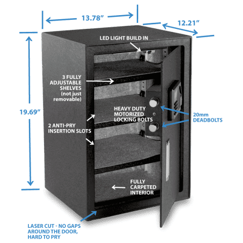 Viking Security Safe VS-50BLX Large Biometric Safe