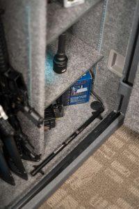 an electronic dehumidifier in a gun safe