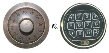a mechanical dial vs an electronic keypad