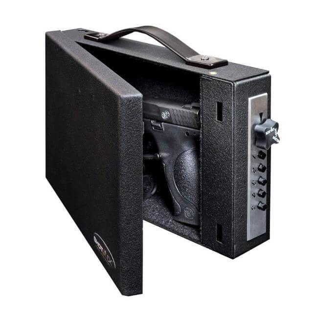 the vehicle gun safe shotlock handgun solo-vault